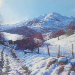 Little Langdale thaw Medium: pastel