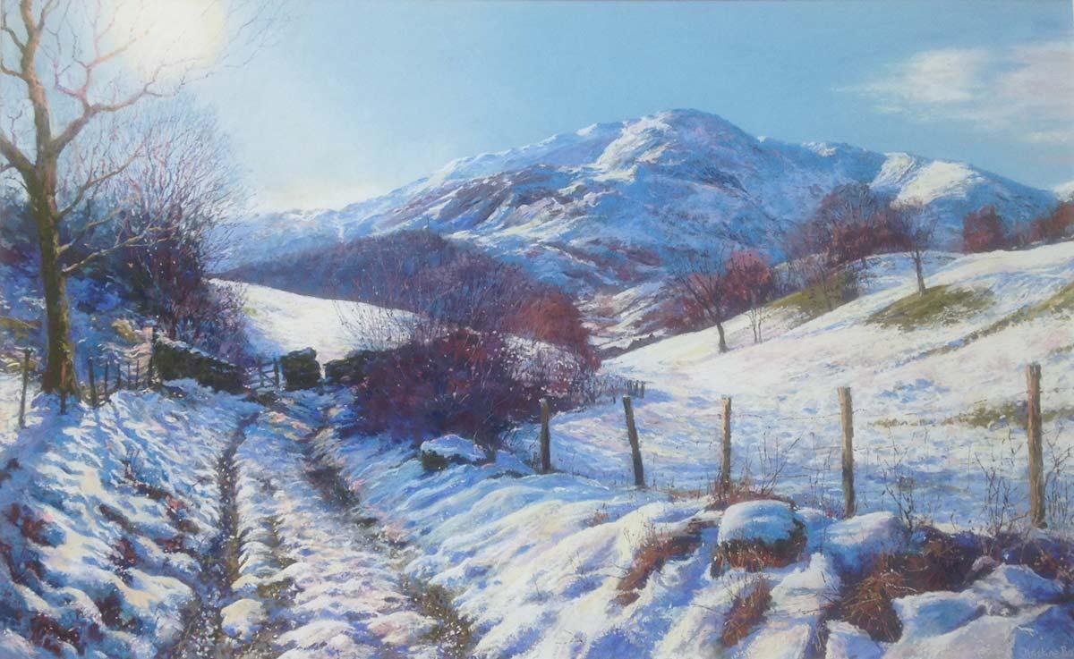 Little Langdale thaw Medium: pastel