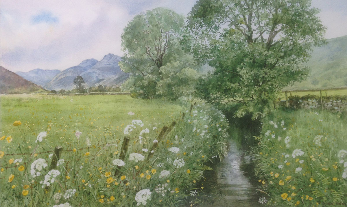 Tiny beck in Great Langdale Medium: watercolour