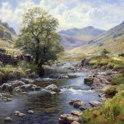 Langstrath, Borrowdale. Oil