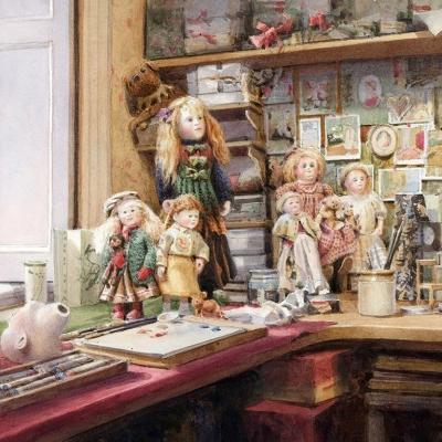 Roche Doll Workshop, Bath Watercolour