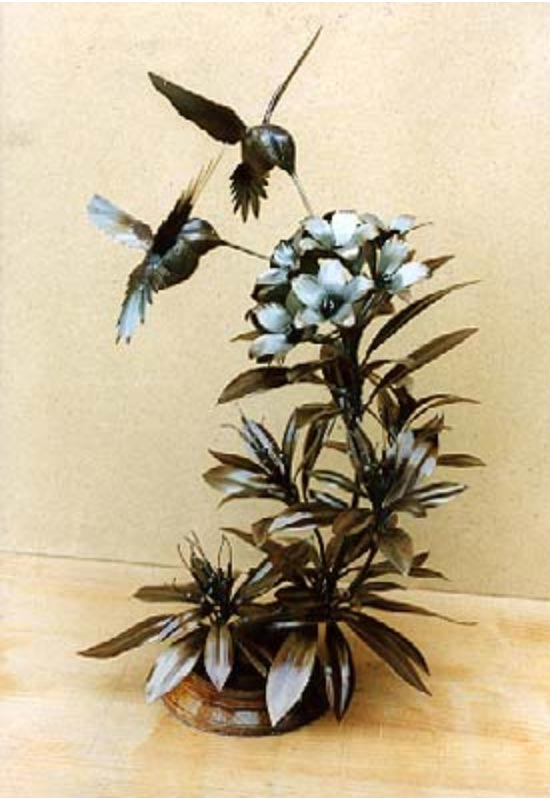 Humming Birds, Welded Steel