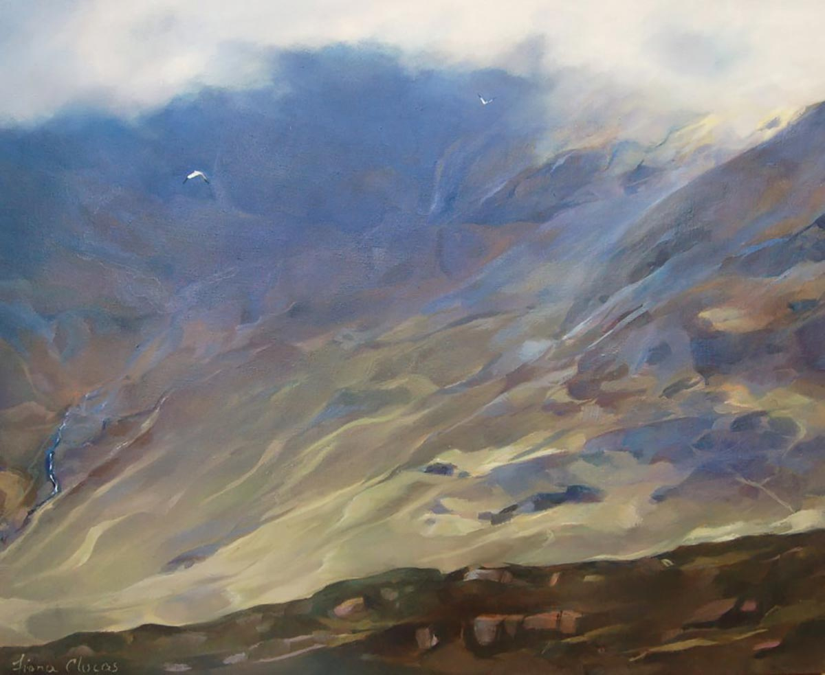 Lifting Cloud Cuillin Ridge Oil 24x30
